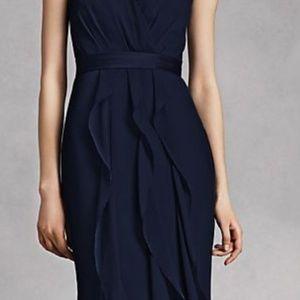 Vera Wang Strapless Navy Blue
